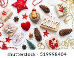 christmas background with... | Shutterstock . vector #519998404