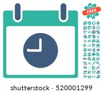 clock calendar day pictograph... | Shutterstock .eps vector #520001299