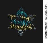 vector bright hanukkah... | Shutterstock .eps vector #520003534