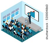 isometric training lectures... | Shutterstock .eps vector #520004860