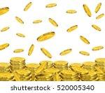 golden coins falling   Shutterstock . vector #520005340