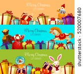 christmas gift and toy banner... | Shutterstock .eps vector #520007680