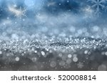 magic blue holiday abstract... | Shutterstock . vector #520008814