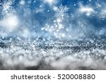 magic blue holiday abstract... | Shutterstock . vector #520008880