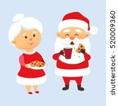 Santa Claus Eating A Cookies...