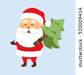 santa claus running with a... | Shutterstock .eps vector #520009414