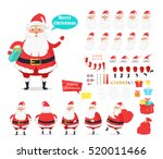 merry christmas. collection of... | Shutterstock .eps vector #520011466