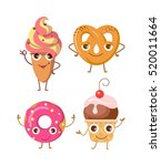 sweets. collection of four... | Shutterstock .eps vector #520011664