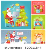 merry christmas. dear santa.... | Shutterstock .eps vector #520011844