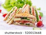club sandwich with chicken... | Shutterstock . vector #520013668