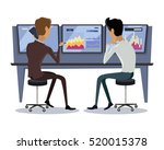 modern online trading on stock... | Shutterstock .eps vector #520015378