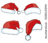 santa hat   vector  illustration | Shutterstock .eps vector #520015594