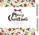 christmas frame | Shutterstock .eps vector #520016050