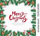christmas frame | Shutterstock .eps vector #520016080