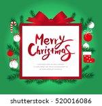 christmas frame | Shutterstock .eps vector #520016086