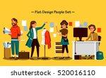 flat design people set  the... | Shutterstock . vector #520016110