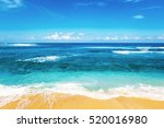 beach and beautiful tropical... | Shutterstock . vector #520016980