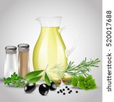 spices and herbs with a glass...   Shutterstock .eps vector #520017688