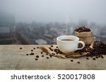 Hot Coffee Cup With Coffee...