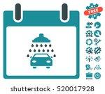 car shower calendar day...   Shutterstock .eps vector #520017928