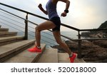 young fitness sports woman ... | Shutterstock . vector #520018000
