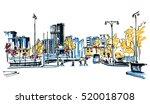city sketch | Shutterstock .eps vector #520018708