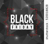 abstract vector black friday...   Shutterstock .eps vector #520018828