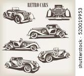 set of retro car. | Shutterstock .eps vector #520019953