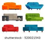 illustration of sofa set in... | Shutterstock .eps vector #520021543