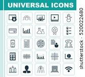 set of 25 universal editable... | Shutterstock .eps vector #520022680