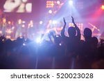 blurry image background of many ... | Shutterstock . vector #520023028