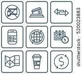 set of 9 travel icons. can be...
