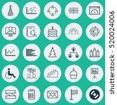set of 25 universal editable... | Shutterstock .eps vector #520024006
