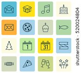 set of 16 celebration icons....