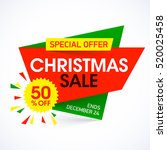 christmas sale banner special... | Shutterstock .eps vector #520025458
