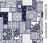 hand drawn seamless patchwork... | Shutterstock .eps vector #520026178