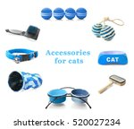 Stock photo different cats accessories on white background 520027234