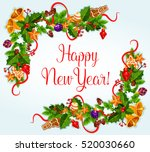 2017 new year greeting card... | Shutterstock .eps vector #520030660