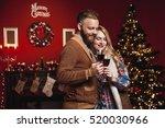 attractive happy couple on... | Shutterstock . vector #520030966