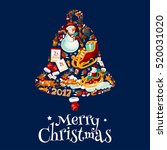 christmas bell with new year... | Shutterstock .eps vector #520031020