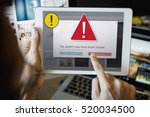 exclamation warning caution... | Shutterstock . vector #520034500