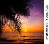 sunset landscape. beach sunset. ... | Shutterstock . vector #520034623
