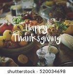 thaksgiving blessing...   Shutterstock . vector #520034698