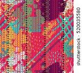 boho. ethnic. batik tiling... | Shutterstock .eps vector #520035580