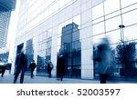 business people walk in the... | Shutterstock . vector #52003597