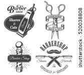 set of vintage barbershop... | Shutterstock . vector #520038808