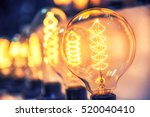 beautiful retro luxury light... | Shutterstock . vector #520040410
