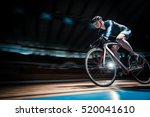 racing cyclist on velodrome | Shutterstock . vector #520041610
