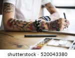 tattoo woman creative ideas... | Shutterstock . vector #520043380