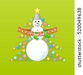 happy new year | Shutterstock .eps vector #520049638